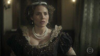 Nívea livra Dulcina e Pedro de um flagra de Leopoldina - Avilez desconfia da mulher. Leopoldina questiona o comportamento do marido e pede para ir embora