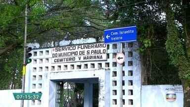 Tribunal de Contas de SP apura furtos dentro dos cemitérios da capital paulista - O anúncio foi publicado, nesta terça-feira (11), no Diário Oficial do município. Em menos de uma semana, 85 sepulturas foram furtadas no cemitério da Vila Mariana, na Zona Sul.