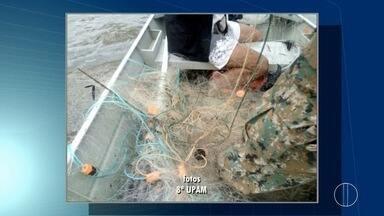 Rede de pesca com 6 km é apreendida em lagoa de Macaé, no RJ - Ninguém foi preso.