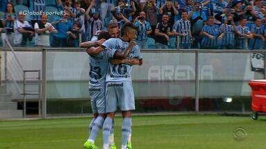 Grêmio vence o Iquique e é líder do grupo 8 na Libertadores - Tricolor ganhou a partida por 3 a 2.