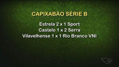 Confira os gols nos jogos do Capixabão - O Estrela derrotou o Sport por 2 a 1, no Sumaré. Por outro lado, o Castelo perdeu em casa para o Serra pelo mesmo placar.
