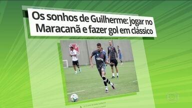 Guilherme Costa diz que sonha em jogar no Maracanã e fazer gol em um clássico no estádio - O volante terá a oportunidade de realizar esse desejo no sábado, quando o Vasco enfrenta o Fluminense pela semifinal do Campeonato Carioca.