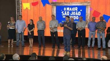 São João de Campina Grande divulga programação e layout da festa em 2017 - Celebridades e autoridades estavam ontem na divulgação oficial da programação e de todo o layout da estrutura da festa.