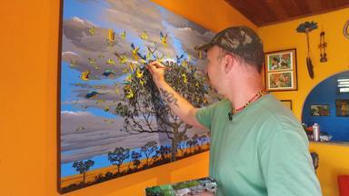 Parque do Itatiaia inspira a arte. Coxinha com dadinhos de tapioca (Bloco 02) - Artista pinta as paisagens do Itatiaia. Receita de aperitivo no Hora do Rancho.