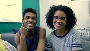 Heslaine Vieira e Juan Paiva gravam episódio exclusivo sobre passado de Ellen - Os atores são irmãos em 'Malhação - Viva a Diferença'