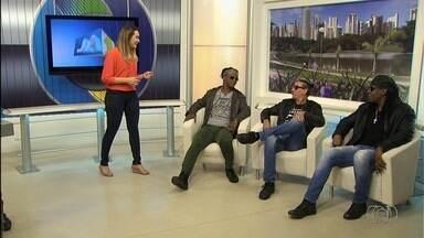 Banda Cidade Negra faz show em Goiânia - Grupo é formado por Toni Garrido, Bino e Lazão.