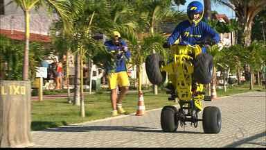Halley Amorim abre nova temporada de manobras radicais pelo Sertão da Paraíba - Paraibano é um dos melhores do país no stumt e tem série de apresentações programadas para Santa Luzia, Patos e São Bento
