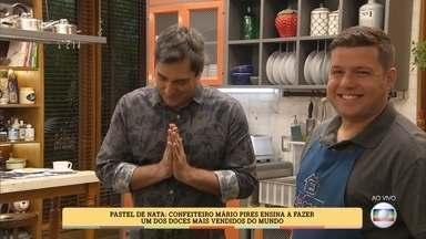 Confeiteiro conta curiosidades sobre o pastel de nata - Mário Pires ensina a fazer o doce português, que é um dos mais vendidos no mundo!