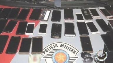 Quadrilha suspeita de roubo de celulares é presa em Bragança Paulista - Celulares foram roubados durante a Expoagro.