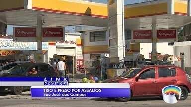 Três são presos depois de roubo a postos de combustíveis - Prisão foi em São José.