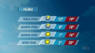 Temperatura deve cair ao longo da semana - Frente fria se aproxima do estado.