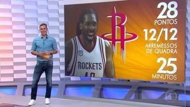 Nenê brilha e comanda vitória do Houston Rockets sobre o Oklahoma nos Playoffs da NBA - Ala-pivô brasileiro é cestinha, com 28 pontos, do time do Texas no triunfo na casa do rival
