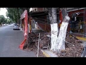 No Leste de Minas, motociclista fica ferido após bater em fachada de padaria - Homem de 32 anos é atropelado em Engenheiro Caldas, na BR-116.