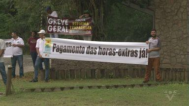 Funcionários da Fundação Florestal fizeram manifestação no Vale do Ribeira - Eles trabalham em unidades de preservação do Estado e tem várias reivindicações.