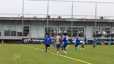 Após eliminação no Gauchão, reservas do Grêmio fazem treino no CT Luiz Carvalho - Assista ao vídeo.