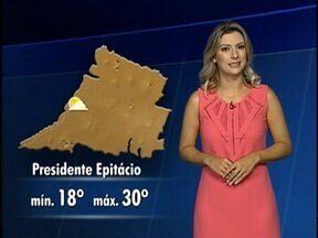 Veja como ficam as temperaturas nesta terça-feira - Débora Andreatto conta qual é a previsão do tempo.