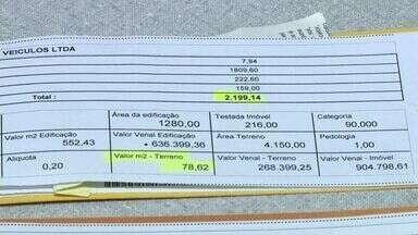 Prefeitura reavalia imóveis em Guaçuí, IPTU aumenta e moradores reclamam, no Sul do ES - Prefeitura reavalia imóveis em Guaçuí, IPTU aumenta e moradores reclamam.