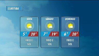 Frio aumenta em Curitiba - A mínima prevista é de 5ºC.