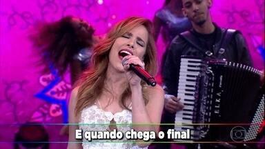 Wanessa Camargo canta 'O Amor Não Deixa' - Wanessa Camargo se apresenta no palco do Domingão