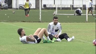 Santos treina de olho no Independiente Santa Fé, rival desta quinta-feira - Santos treina de olho no Independiente Santa Fé, rival desta quinta-feira