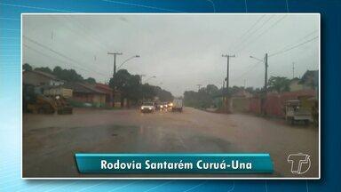 Vídeo mostra situação precária de trecho da avenida Curuá-Una perto da ponte do Urumari - Vídeo foi enviado a produção de jornalismo da TV Tapajós.