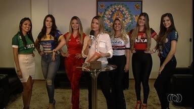 Candidatas ao Musa do Goianão encaram o desafio da piada ruim - Garotas tentam evitar a risada na brincadeira proposta pelo Globo Esporte