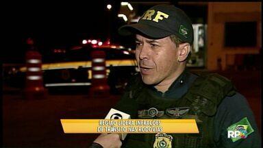 Região dos Campos Gerais lidera ranking de infrações de trânsito - Ultrapassagem em local proibido e excesso de velocidade foram as situações mais graves registradas durante do feriado de 1º de maio