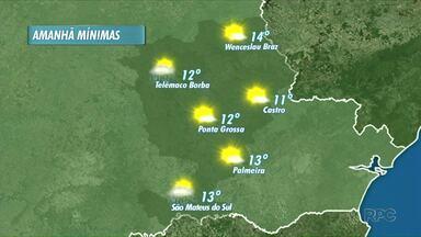 Frio permanece na manhã de quinta-feira - À tarde a temperatura aumenta e não deve chover na maior parte da região