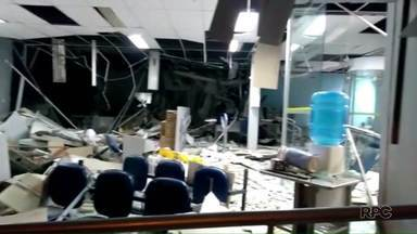 Bandidos explodem agência bancária em Cruz Machado - Segundo a Polícia a ação durou quinze minutos e envolveu vários bandidos.