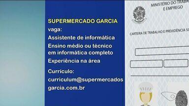 Ao trabalho: confira oportunidades no Sul do ES - CDL de Cachoeiro tem vagas.