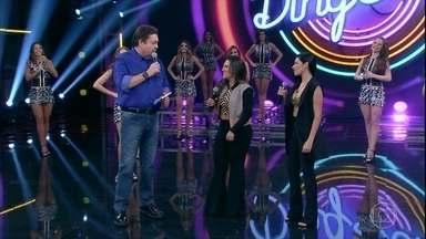 Simone e Simaria relembram participação no 'Domingão' ao lado de Frank Aguiar - Dupla fala sobre sucesso na carreira