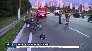 Jovem sofre acidente de moto e morre na Marginal Pinheiros - Levantamento mostra que essa é a décima morte de pessoas em moto no ano somente nas Marginais em 2017.