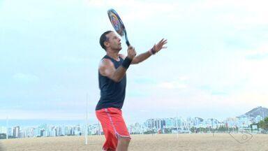 Atlesta de 54 anos é campeão em etapa do Mundial de Beach Tennis - Zé Luiz contou sua história ao repórter Jorge Félix.