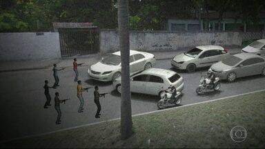 Inspetor da Cet-Rio e motorista de ônibus são baleados em Santíssimo - Bandidos armados assaltavam motoristas quando passaram dois agentes da Cet-Rio. Os bandidos atiraram e atingiram um dos agentes e o motorista.