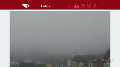 Moradores de Domingos Martins, ES, enviam fotos da manhã fria na cidade - Temperatura máxima não passa dos 22 ºC.