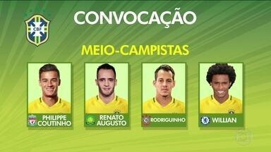 Confira os convocados para os próximos amistosos da Seleção Brasileira - Brasil enfrenta a Argentina e a Austrália.