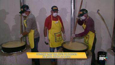 Começou a 10ª festa da Polenta em Santa Tereza do Oesta - Festa gastronômica deve reunir milhares de pessoas.