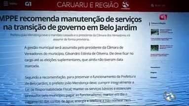 MPPE recomenda manutenção de serviços na transição de governo em Belo Jardim - Prefeito João Mendonça teve o mandato cassado e o presidente da Câmara dos Vereadores irá assumir de forma provisória.