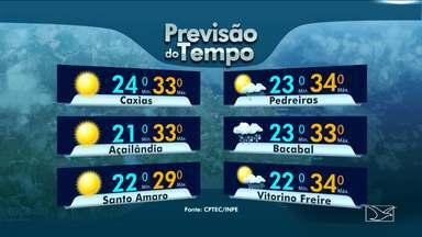 Veja a variação das temperaturas no Maranhão - Segundo a meteorologia, sol e as nuvens irão predominar nesta segunda-feira (22) em São Luís.