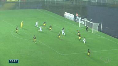 Times do ES entram em campo na série D do Campeonato Brasileiro - O Espírito Santo jogou em casa contra o Red Bull Brasil. O jogo foi no Kléber Andrade com muita chuva e nenhum gol.