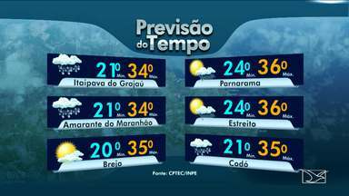Veja a previsão do tempo nesta quinta-feira (25) no MA - Confira como deve ficar o tempo e a temperatura em São Luís e no Maranhão.