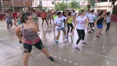 Dia do Desafio leva população às ruas em Cachoeiro, ES - Cachoeiro está competindo com cidade da Venezuela.
