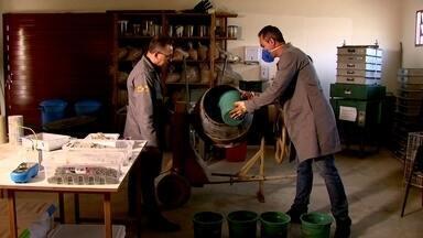 Concreto é feito com bagaço de cana de açúcar - Pesquisadores da UFSCar fizeram descoberta