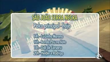 Veja a programação do São João de Bezerros para o fim de semana - Shows ocorrem em Serra Negra.