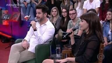 Débora Falabella e Murilo Benício relembram os trabalhos que os dois fizeram juntos - Os dois contam que não se conheciam na primeira vez que contracenaram