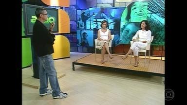 Serginho mostra a primeira vez que encontrou com Fernanda, sua esposa - Os dois se encontraram em um antigo programa em uma reportagem sobre dentição e amamentação