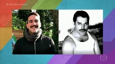André Marques ou Freddie Mercury? Bigode do apresentador gera comparações - E você, acha que ficou parecido?