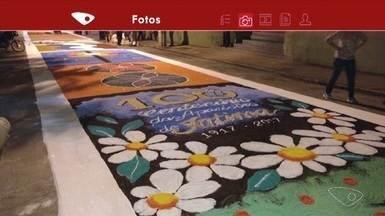 Telespectadores registram tapetes de Corpus Christi em várias cidades do ES - Confira as fotos.