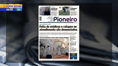 Confira os destaques dos jornais gaúchos nesta segunda-feira (19) - Veja as manchetes.