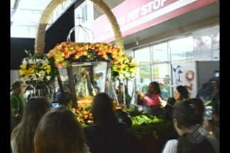 Imagem Peregrina de N. Sra. de Nazaré participa do Círio de São Bento do Una (PE) - Na chegada à cidade, centenas de fiéis saudaram a Virgem de Nazaré.